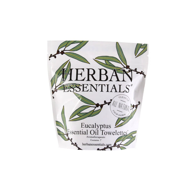 Herban Essentials Essential Oil Towelettes - Eucalyptus Mini-Bags