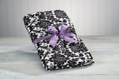 Black & White Blankie & Neck Roll - Sonoma Lavender Shop