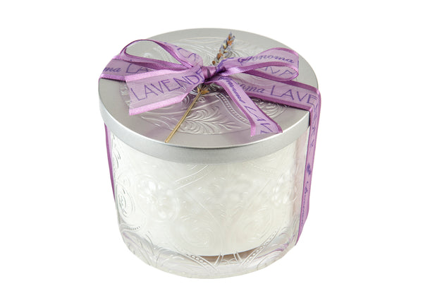Sonoma Lavender Etched Glass Soy Candle - 40 hour