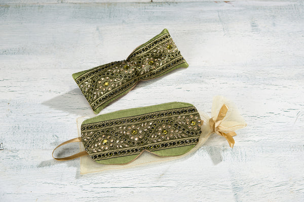 Jeweled Lavender and Eucalyptus Eye Pillow & Sleep Mask
