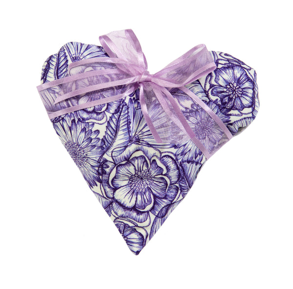 Sonoma Lavender Heart Sachet - Purple Bouquet