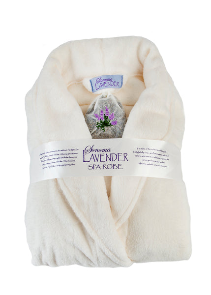 Sonoma Lavender Ultra-luxe Plush Robe - Ivory