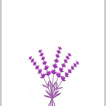 European Tea Towel - Lavender Print