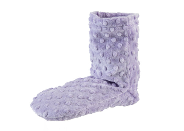 Sonoma Lavender Lilac Dot Spa Booties