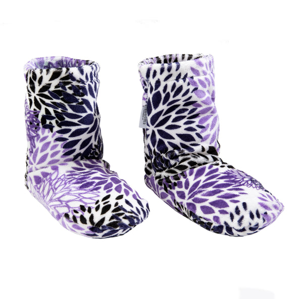 Sonoma Lavender Purple Bloom Spa Booties