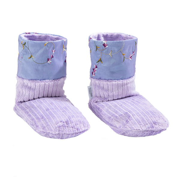 Sonoma Lavender Embroidered Lavender Booties