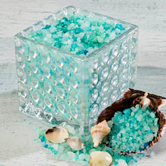 OceanAire Bath Salts in Clear Dot Glass