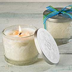 Sonoma OceanAire Soy Candle in Etched Glass