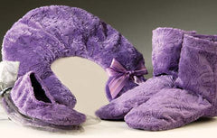 Embossed Paisley Heated Footies, Neck pillow & Spa Booties - Sonoma Lavender Shop