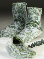 Green Paisley Booties, Footies & Mittens - Sonoma Lavender Shop