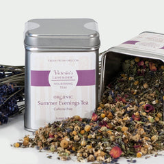 Victoria's Lavender - Organic Loose Leaf Herbal Tea – Summer Evenings