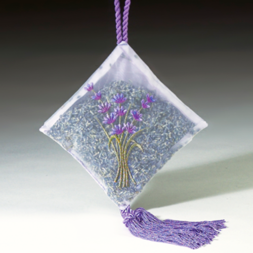 "6"" Lavender Hanging Sachet with Tassel"