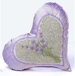 Sonoma Lavender Embroidered Lavender Heart Dream Pillow