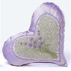 Embroidered Lavender Heart Dream Pillow - Sonoma Lavender Shop
