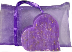 Massalia Heart Soap - Lavender Exfoliating