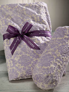 Sonoma Lavender Lilac Damask Spa Blankie & Heated Neck Roll