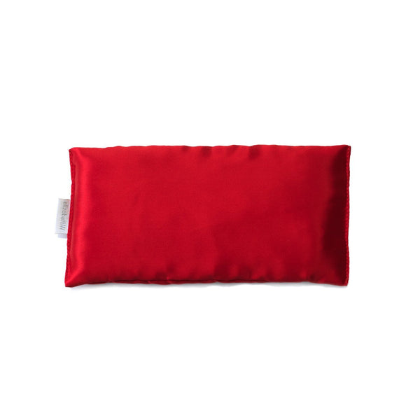 Elizabeth W Silk Eye Pillow - Red
