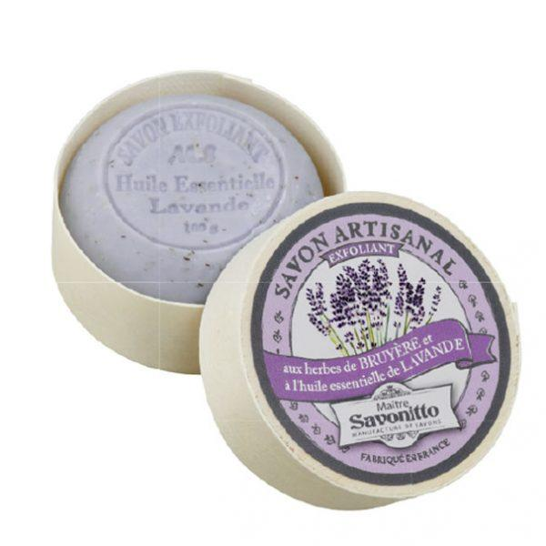 Maitre Savonitto Lavender Exfoliating Wooden Box Soap