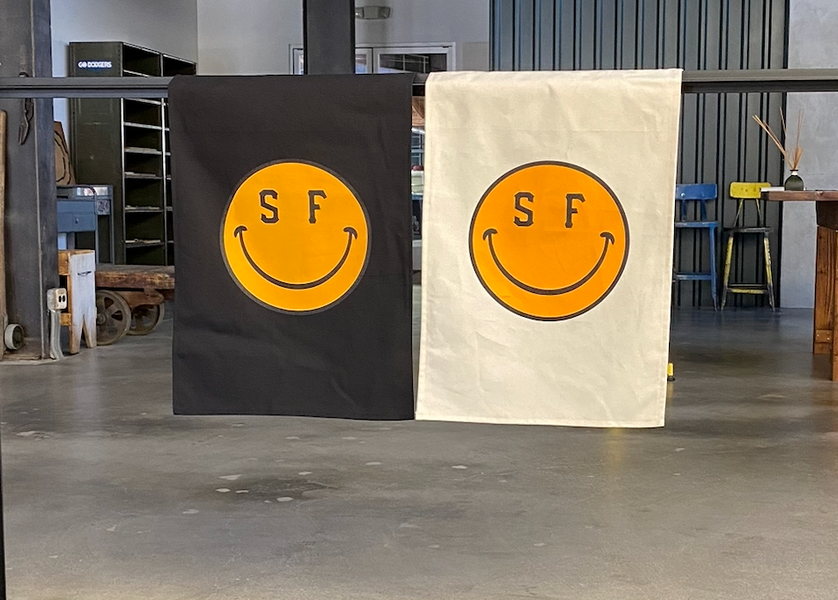 NEW SF Smile FLAG