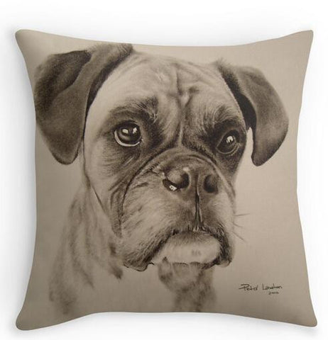 Boxer Dog Square Zippered Throw Pillows Decorative Pillowcase Twin Sides Art Doggy Shops