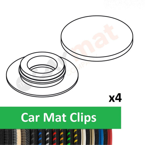 Mercedes Car Mat Clips (Round)
