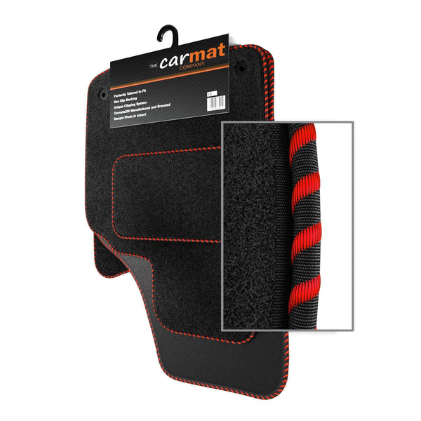 MINI CONVERTIBLE 2004-2008 TAILORED BLACK CAR MATS WITH RED TRIM