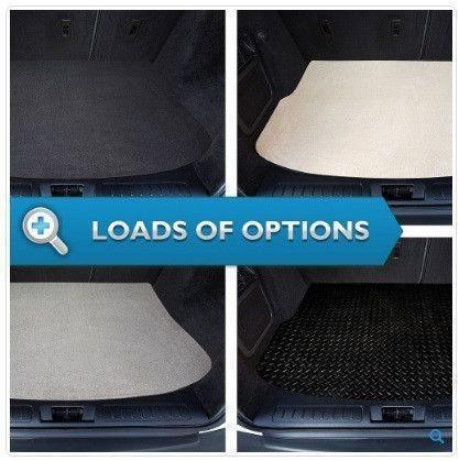 View of a collection of custom car mats, specifically Vauxhall Vectra Hatchback (2003-2010) Custom Boot Mat