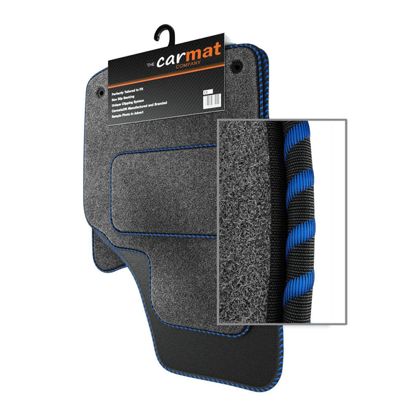 View of a collection of custom car mats, specifically Ford Galaxy Mk3 (2006-2014) Custom Car Mats