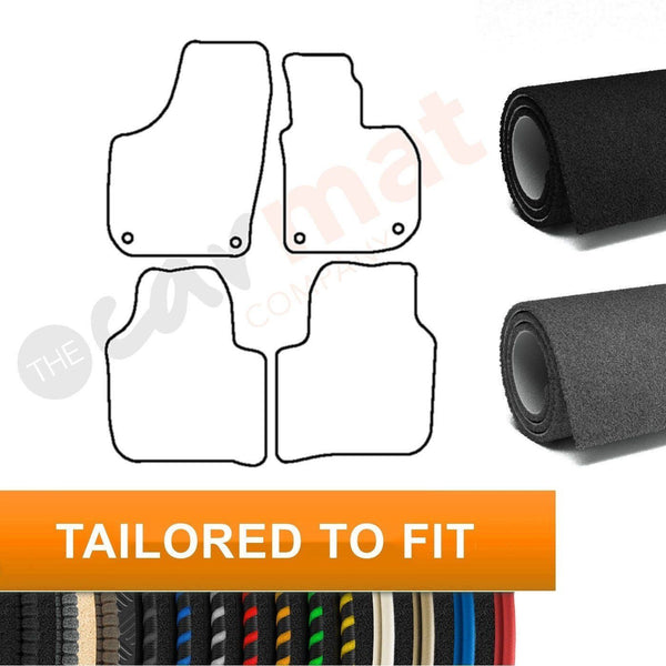 View of a collection of custom car mats, specifically Skoda Superb (Round Clips) (2008-2015) Custom Car Mats