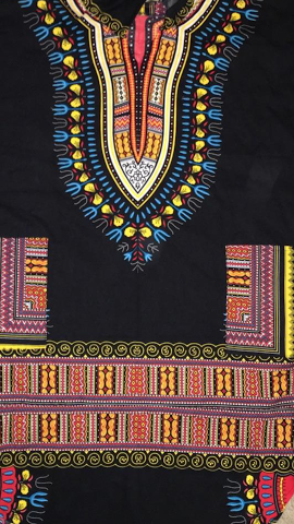 Mid-Length Dashikis w/Long Sleeves