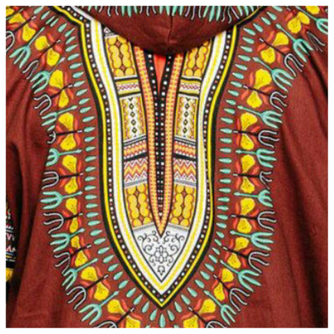 Zip Up Leather Trim Edition Half Sleeve  Mid-Length Dashikis