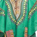 Zip Up Leather Trim Edition Half Sleeve  Long Dashikis