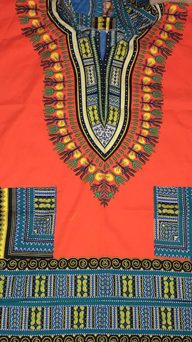 Half-Sleeve Long Dashikis