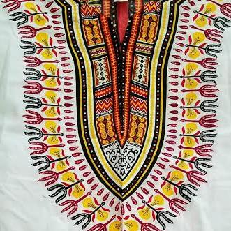 Zip Up Leather Trim Edition Mid-Length Dashikis w/ Long Sleeves