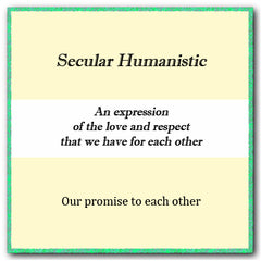 Secular Humanistic Text - Timeless Ketubah