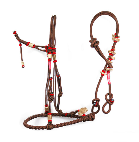 Charros Original Bosal/Riendas Hueso Cafe (brown) II