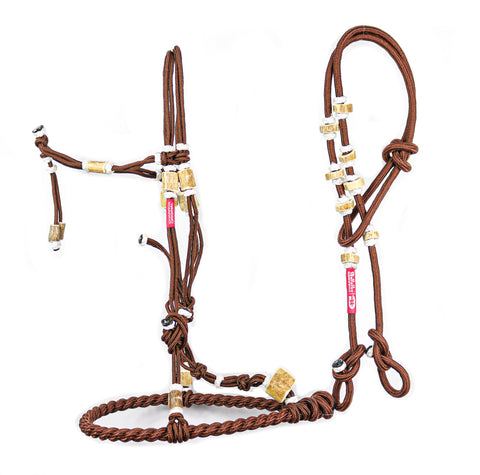 Charros Original Bosal/Riendas Hueso Cafe (Brown)