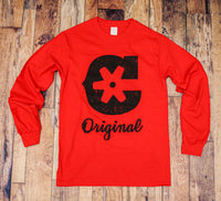 "Red ""ORIG"" Long Sleeve"