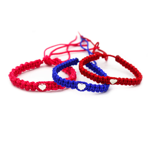 "Braided ""Heart"" Bracelet Set (1401340362815)"