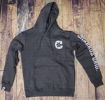 "Heather Grey ""C"" Charros Hoodie (Fitted)"