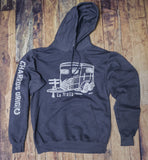 """Traila"" Heather Navy Hoodie"