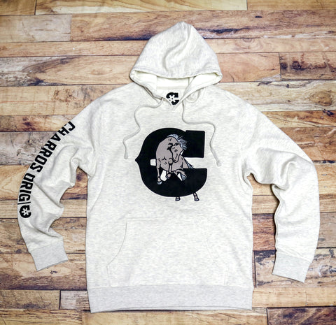 """Caballo"" Heather Cream Hoodie"