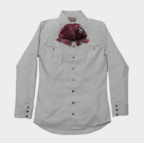 Camisa Charra Gray/Green (Color Cemento) (4476122562623)