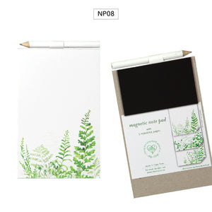 Notepad Magnetic with Pencil Ferns