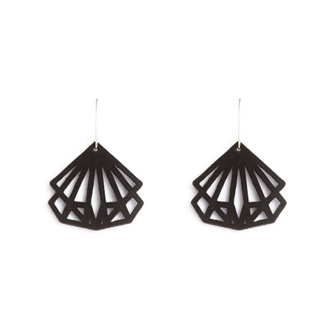 Earrings Coco Leather Black