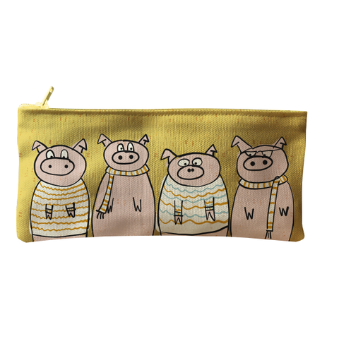 Bag Pencil Little Pigs Yellow