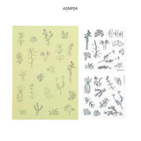 Notepads A5 With Stickers Fynbos