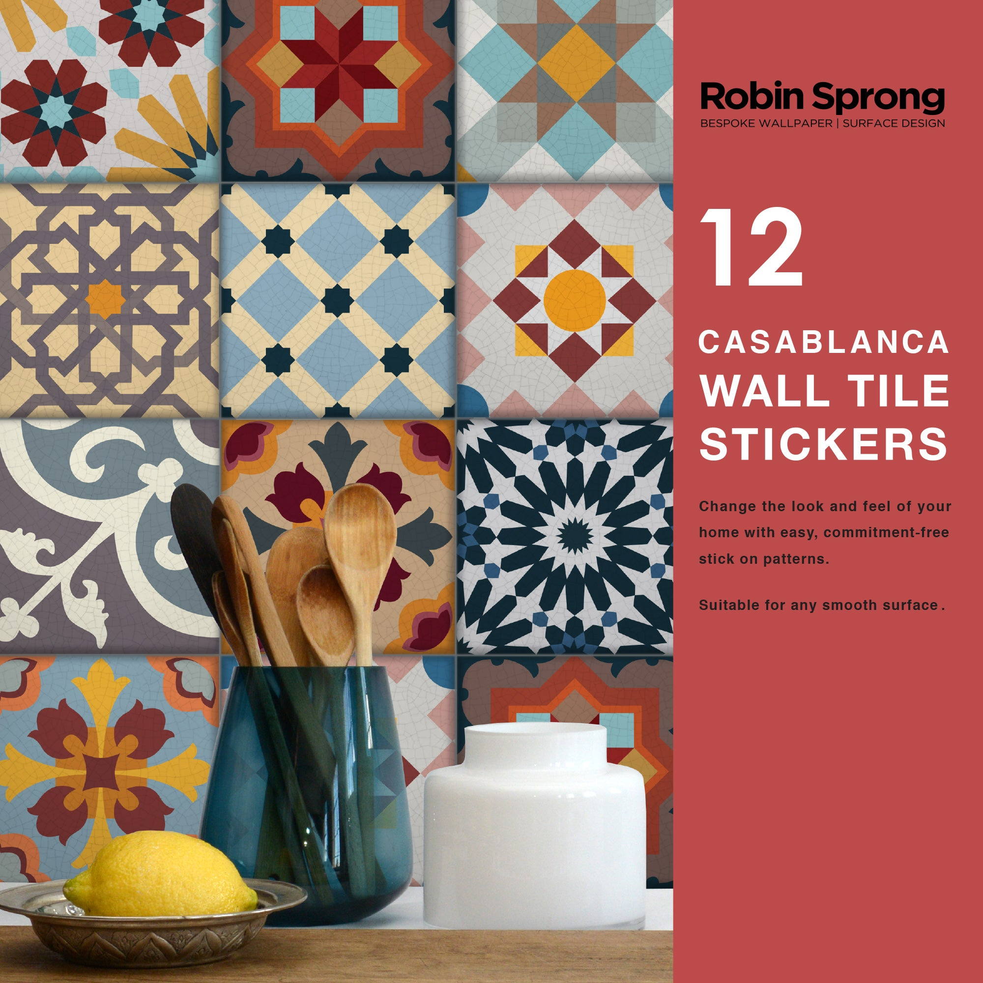 Wall Tile Stickers Casablanca 20x20cm