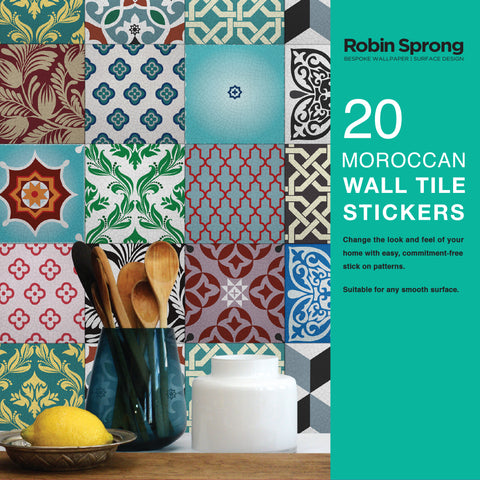 Wall Tile Stickers Moroccan 15x15cm