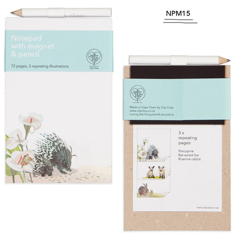 Notepad Magnetic with Pencil Porcupine